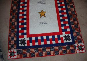 Chris Davidson Gold Star Quilt